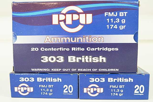 303 British Ammunition PPU FMJ 1 Box