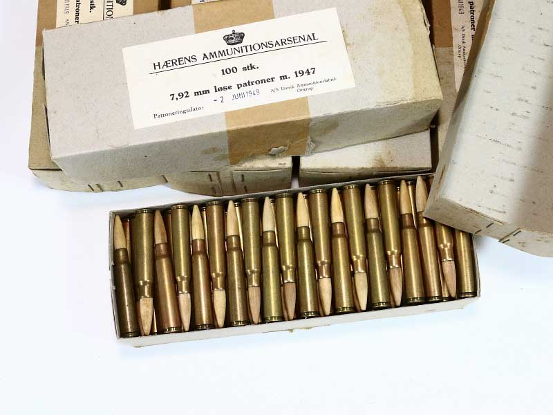 8mm Mauser Danish German Blank Ammunition 1 Box #2450