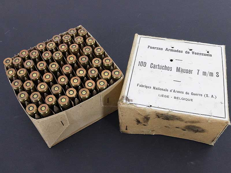7mm mauser surplus ammo fn46 100 rnd box