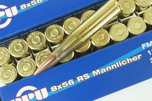 8x56r mannlicher ppu ammunition 40rnds 2 bxs
