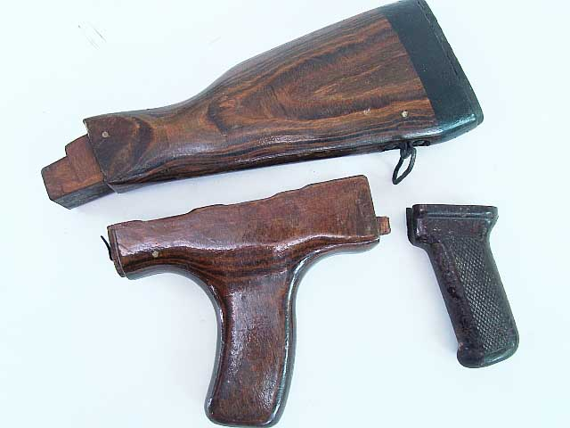 Ak47 Wooden Stock Set W Vertical Grip