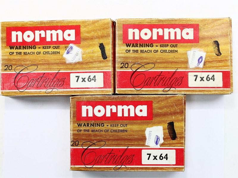 7x64 Norma Ammunition Lot 3 Bxs #1780