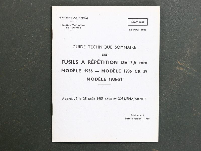 French MAS 36 CR39 1936/51 Rifle Manual