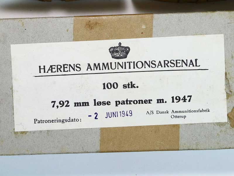 8mm Mauser Danish German Military Blank Ammunition 100rnd Box